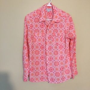 Floral pink Kim Rogers button up blouse